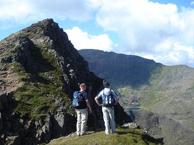 Y Lliwedd trek Snowdonia