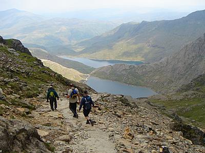Pyg Track trek Snowdonia